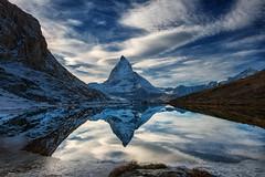 Reflecting Pool {Explored March 28th, 2016} (Marshall Ward) Tags: winter mountains alps landscape switzerland zermatt matterhorn riffelsee thealps the 2015 thematterhorn nikond800 afszoomnikkor2470mmf28ged marshallward