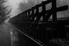 RailRoadWalk-5 (ArtofScholle) Tags: road morning blackandwhite bw nature fog contrast canon grey march outdoor walk foggy indiana rail rr rails kit stm lawrenceburg 2016 70d 18135mm