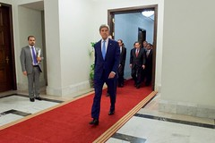Secretary Kerry Walks Through Prime Minister Al-Abadi's Residence in Baghdad, Iraq (U.S. Department of State) Tags: iraq baghdad johnkerry haideralabadi
