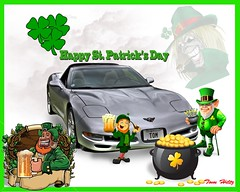St Patrick's day (redvette) Tags: photoshop corvette shamrock stpatricksday potofgold