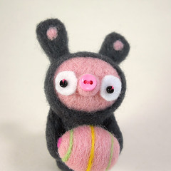 Happy Spring!! (Kit Lane) Tags: wool felted easter toy character egg plush kawaii kitlane