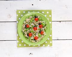 Mix di cereali porta fortuna (@ficoeuva) Tags: sale riso basilico olio piselli scotti pomodorini cereali risoscotti ricedesign rice4kidsbio