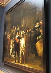 A painting (streamer020nl) Tags: art amsterdam night painting kunst watch picture schilderij rijksmuseum rembrandt 2016 nachtwacht llh 100416 louiselh