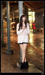 nEO_IMG_DP1U3818 (c0466art) Tags: light portrait girl face rain female night canon photo nice eyes asia long pretty slim legs zoom sweet young taiwan figure lovely cultural  1dx c0466art