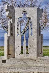 Monuments in The Lake of Bolsena. Bolsena 2016. (tiziano.fiucci) Tags: sky lake lago monumento cielo marta bolsena