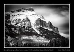 One of the many northeast facing peaks of Mt. Rundle, Banff National Park, Alberta (kgogrady) Tags: trees winter blackandwhite bw mountain snow canada clouds landscape blackwhite noone ab nopeople alberta banff fujifilm peaks fujinon mountrundle banffnationalpark parkscanada mtrundle canadianrockies 2016 westerncanada bowvalley canadianmountains xe1 canadiannationalparks canadianlandscapes cans2s albertalandscapes fujifilmxe1 xf55200mmf3548ois canadianrockieslanscape