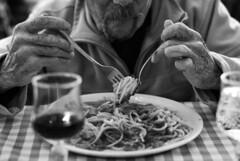 IlGiovediDiDomenico_22 (Naraphotos) Tags: portrait bar hands hand tram oldman mani mano spaghetti autobus ritratto caff reportage domenico sigarette panchina trattoria solitudine rotaie anziano amatriciana stampella gioved tranquilli