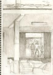 2016_04_02_MalagaHuelin_town (pablo hw) Tags: espaa andaluca spain drawing dibujo mlaga lpiz urbansketchers