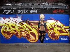 Mr Shiz graffiti, Leake Street (duncan) Tags: graffiti lola transporter shiz transporter2 katenauta leakestreet mrshiz