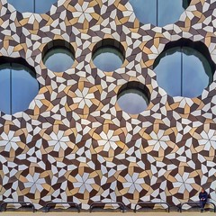 Escheresque Enchantment (Paul Brouns) Tags: uk greatbritain windows england urban woman building london geometric wall architecture facade photography pattern geometry minimal architect round geometrical escher architectuur foreignoffice paulbrouns paulbrounscom