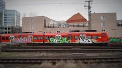 Graffiti (Honig&Teer) Tags: railroad sport train germany graffiti n eisenbahn hannover db vandalism vehicle deutschebahn sbahn treno bombing traingraffiti trainart railroadgraffiti efg brous fosr honigteer eisenbahngraffiti