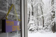 Think Spring (Read2me) Tags: winter snow white door sign words purple she cye thechallengefactory tcfunanimouswinner gamewinner friendlychallenges pregamewinner challengeclubwinner