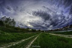 Along the road (ZeGaby) Tags: nature landscape pentax hdr samyang8mmfisheye pentaxk3