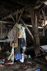 Wandering Broken Places (Brandi Bonde) Tags: wood abandoned broken barn vintage decay clothes