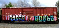 goreb - gouls (timetomakethepasta) Tags: train graffiti goreb boxcar d30 freight erupto atw a2m gouls