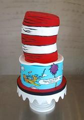 Dr. Seuss Birthday Cake (Sasabeth) Tags: seuss birthdaycake drseuss catinthehat drseusscake catinthehatcake seusscake thingamijigger