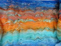 Azure Sunset Wild Card Bling Batt (yarnwench) Tags: felting spinning batt yarnwench artbatt