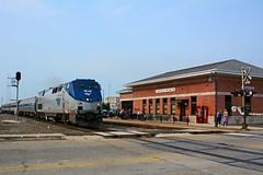 Amtrak #65 - Mendota Depot (Jim Strain) Tags: railroad station train illinois railway amtrak locomotive mendota jmstrain