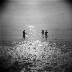 what I think is so goddamn ghoulish I hesitate to speak it out loud. (jean-christophe sartoris) Tags: sea blackandwhite analog swimming holga noir et blanc holydays argentique filmphotography film6x6 filmcommunity