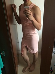 Pink Midi Dress : 4 (SammyLeCD) Tags: stockings drag dress cd tights skirt curvy crossdressing tgirl teen sissy tranny transvestite pantyhose crossdresser crossdress trap nylon gurl tg nylons androgynous mtf femboy genderfluid