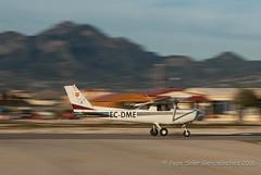 Take off at Muchamiel (LEMU) (Pepe Soler Garcisnchez) Tags: alicante ppl p92 pilot cessna volando c152 barrido leal lemu mypassport mutxamel muchamiel