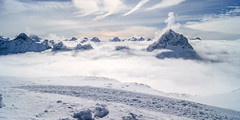Above the cloudline (eye see sound) Tags: winter snow france alps landscape frenchalps l2a lesdeusalpes