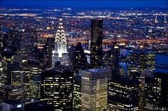 NY Noche (lautada) Tags: city usa newyork rooftop night atardecer unitedstates manhattan ciudad empirestate anochecer estadosunidos nuevayork
