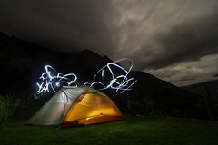 camping during trekking to Choquequirao ruins / nocleg w trakcie trekkingu do ruin Choquequirao (Bartosz Lisek) Tags: travel camping lightpainting peru southamerica trekking canon eos 7d andes 1022 choquequirao incas ameryka poudniowa