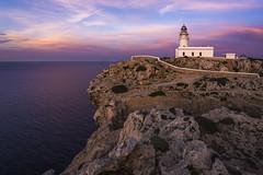 Faro de Cavallera (Miguel A. Garc) Tags: sunset espaa lighthouse island spain colorful colours menorca baleares balearicislands balears illesbalears islasbaleares cavalleria farodecavalleria