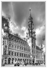 Bruxelles (Bruno MATHIOT) Tags: city white black monochrome architecture mono europe noir noiretblanc wide wideangle center nb 1020mm blanc hdr ville batiment 10mm photomatix 650d ultragrandangle