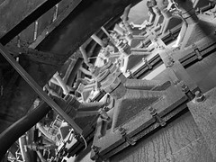 Kuhlung (Dirk Stenzel) Tags: bw white black industry pen steel olympus nrw sw duisburg ruhrgebiet schwarz stahl ruhrpott hochofen weis iso1250 17mm18 epl7