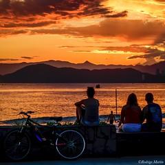 Santos - Brazil -> Instagram : @rodlilo (rgm_fotografia) Tags: ocean trip travel sunset brazil vacation sky people sun praia beach beautiful bike brasil nikon saopaulo sopaulo santos sudeste baixada d3300