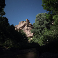 Aravaipa Creek (em_burk) Tags: arizona ford night creek canon stars outdoors stream desert north fullmoon cottonwood backcountry moonlight remote wilderness rhyolite bigdipper riparian aravaipa aravaipacanyon aravaipacreek