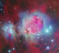 M42 and Running Man (Roberto Colombari) Tags: colors stars nebula astrophotography astrofotografia m42 runningman deepsky astrometrydotnet:status=solved deepskywest astrometrydotnet:id=nova1522699