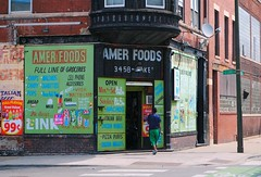 Amer Foods (Cragin Spring) Tags: city urban usa chicago building architecture corner illinois midwest unitedstates market unitedstatesofamerica chitown il westside grocerystore grocery chicagoillinois chicagoil windycity eastgarfieldpark neighborhoodgrocery amerfoods