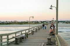 Pier at Sunset Beach (rihaje588) Tags: ocean sunset seascape beach pier nc sand marine northcarolina maritime marsh seagrass saltwater shrimpboat