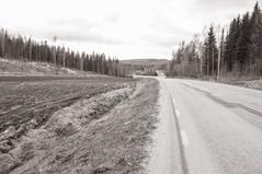 human planet (Kalense Kid) Tags: road bw house field lines landscape sweden leading ploughed vsternorrland