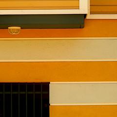 do horizontal stripes make walls look fat? (msdonnalee) Tags: wall stripes garage minimalism minimalismo lightfixture walldetail minimalisme abstractreality horizontalstripes minimalismus