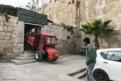 Jerusalem trafik rd traktor Lveporten (Bernt Nielsen) Tags: israel jerusalem trafic