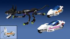 Titan Cycle Chase (Oky - Space Ranger) Tags: monster digital robot force power lego pacific designer go contest super transformers vehicle voltron titan rim rangers mecha kaiju mech rift rifter
