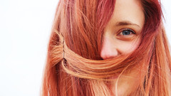 Bigot (lluiscn) Tags: orange woman color eye colors girl hair persona mujer rojo chica retrato redhead vermell blau pelirroja pelo dona roja taronja retrat cabell ull bigot roig coloredhair xica monyo pl