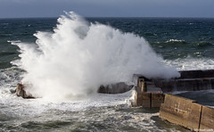 Portknockie harbour entrance (Michael Leek Photography) Tags: sea storm nature weather harbor scotland spring waves power harbour wave nopeople gale moray fishingvillage morayfirth force10 portknockie powerofnature force9 severegale northerlystorm michaelleek michaelleekphotography
