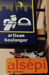 Haguenau (micky the pixel) Tags: france sign bread pain frankreich baker schild alsace stork elsass brot bcker storch haguenau boulanger hagenau sichelmond nasenschild hwenu