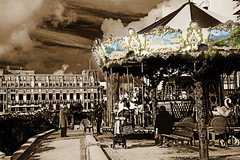 Biarritz (antonio-gonzalez) Tags: horses france sepia children carousel nios francia biarritz tiovivo carrusel toning caballitos angovi