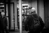 Mr. Tattoo (Terje Helberg Photography) Tags: street city autumn urban blackandwhite bw fall monochrome norway tattoo town candid citylife streetphotography samsung backpack bergen bnw skinhead torgallmenningen visitnorway ilovenorway nx1000 visitbergen