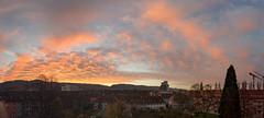 Sunrise Pano (SpotShot) Tags: red panorama orange rot ex clouds sunrise dawn glow pano sony wolken sigma 20mm 20 f18 sonnenaufgang a7 dg leuchten sigma20mmf18 sonya7 ilce7