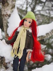 Enjoying the snow (sh0pi) Tags: winter snow classic ariel outside doll little disney mermaid disneystore puppe arielle kleine meerjungfrau drausen
