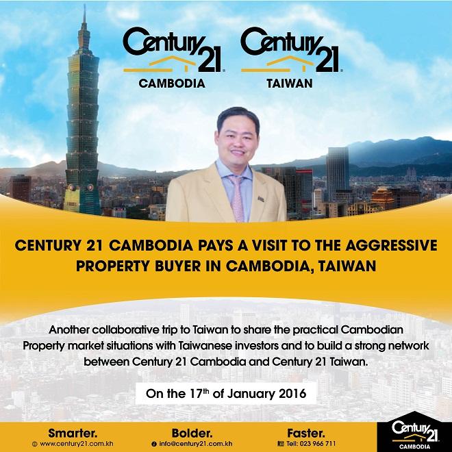 ទស្សនៈកិច្ចជាផ្លូវការ របស់ Century 21 Cambodia ទៅទីក្រុងតៃវ៉ាន់ ដែលជាអ្នកទិញអចលនទ្រព្យដ៏អស្ចារ្យនៅប្រទេសកម្ពុជា