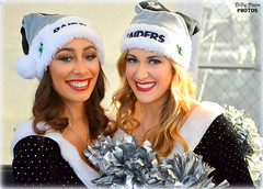2015 Oakland Raiderettes Cassie & Sarah (billypoonphotos) Tags: santa christmas ladies black hat sarah silver oakland photo dance football team nikon women san pretty cheerleaders nfl nation picture diego dancer cassie coliseum females cheerleading squad fabulous raiders chargers raider 2015 raiderette raiderettes raidernation oco d5200 raiderville billypoon billypoonphotos