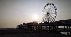 Downtime. (5n4pdr4g0n) Tags: sea beach wheel fun pier ferris blackpool